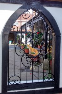 Wrought Iron Fox Window